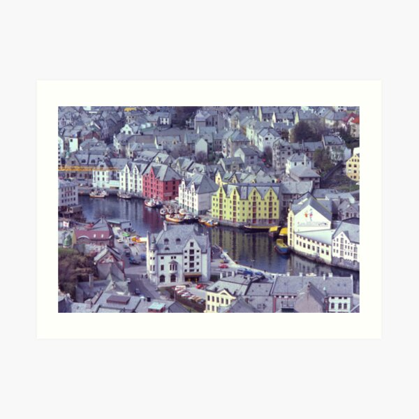 Alesund, Norway. Art Print