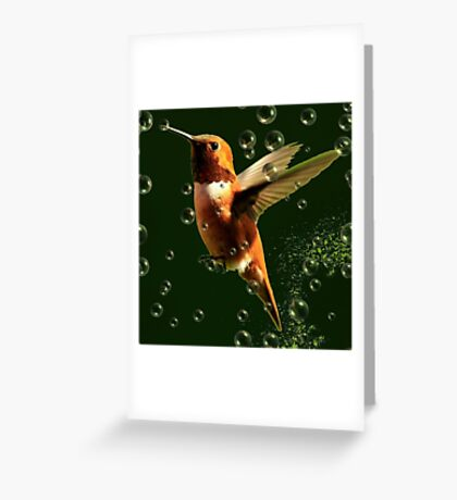 BUBBLES.....L Greeting Card