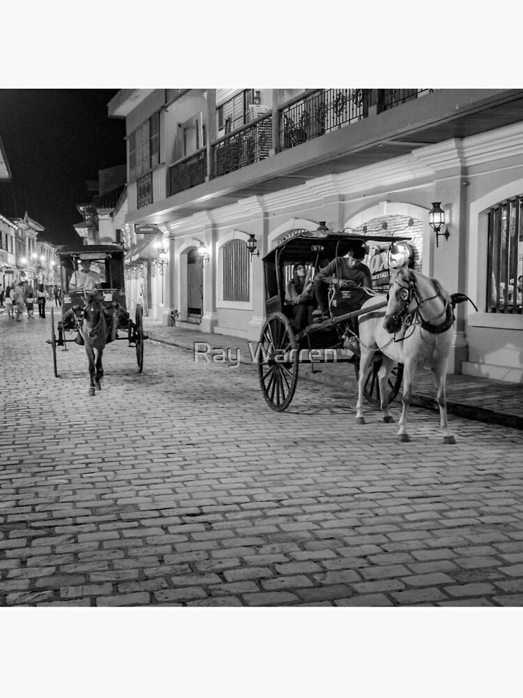 Vigan City, Philippines (black and white) by RayW