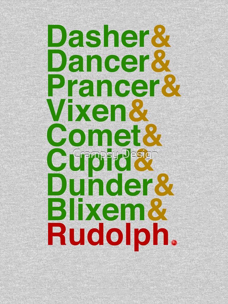 Reindeer Names Typography by Crampsy