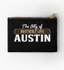 The City of brotherly love: Austin USA Zipper Pouch