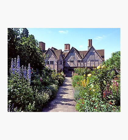 Cottage garden, Stratford-upon-Avon. UK. Photographic Print