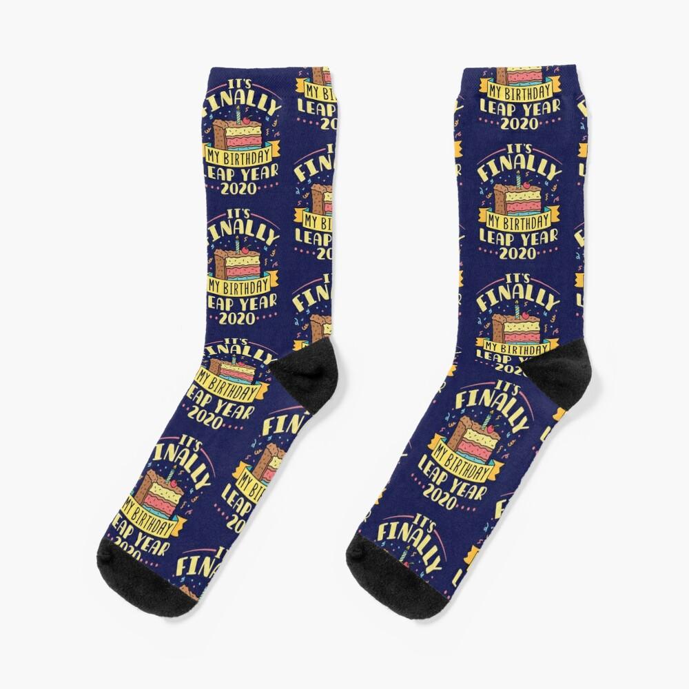 Leap Year 2020 It's Finally My Birthday Socks