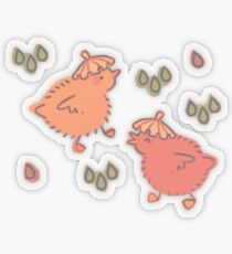 Shower Ducklings Transparent Sticker