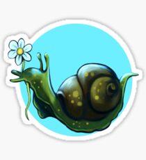 Cute snail with flower Sticker