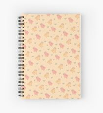 Shower Ducklings - Light Spiral Notebook