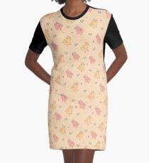 Shower Ducklings - Light Graphic T-Shirt Dress