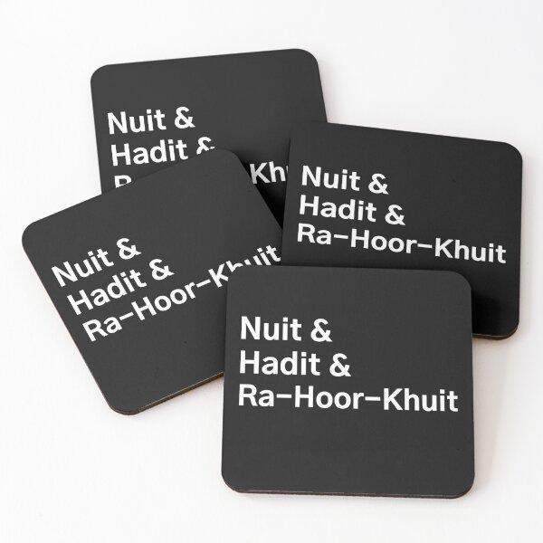 Nuit & Hadit & Ra-Hoor-Khuit - The Thelemic Trinity Coasters (Set of 4)