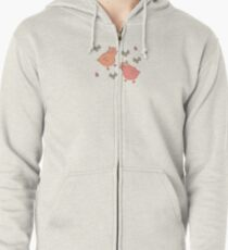 Shower Ducklings Zipped Hoodie
