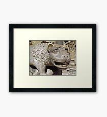Vajdahunyad Lion Framed Print