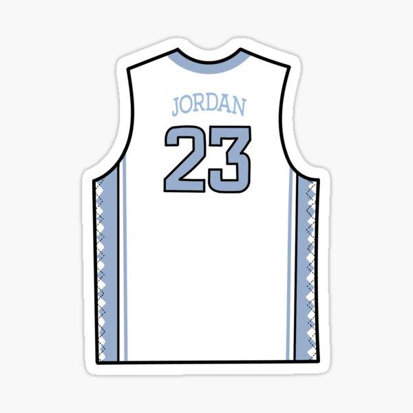 UNC Basketball Jersey #23 Sticker