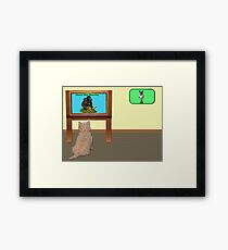 Watching telly. Framed Print