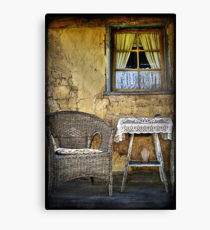 Ackerman's Cottage cameo ~ Hill End NSW Canvas Print
