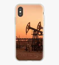 Oil pumps on a oil field. iPhone Case