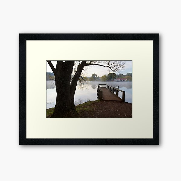 A Jetty with a View Framed Art Print