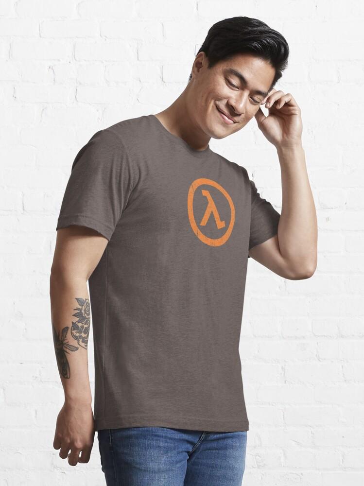 Alternate view of Half Life Lambda Symbol Essential T-Shirt