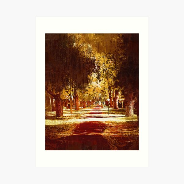 Tree Arched Walkway Art Print