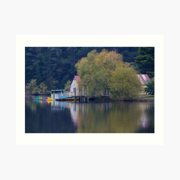 Lake Daylesford Hideaway Art Print