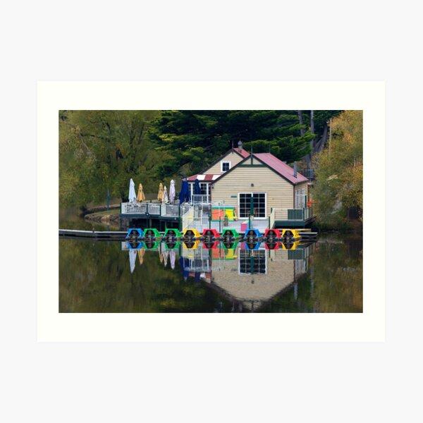 Boathouse Reflections Art Print