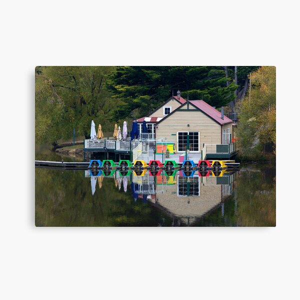 Boathouse Reflections Canvas Print