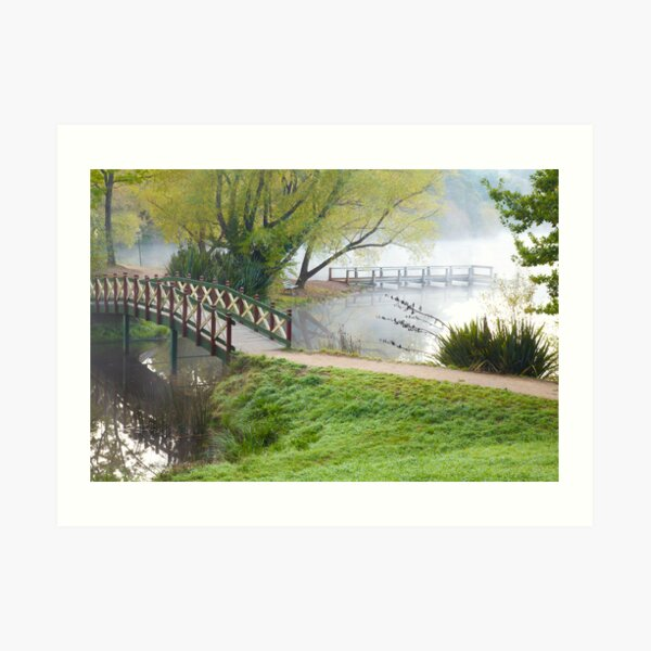 Bridge over Lake Daylesford Art Print