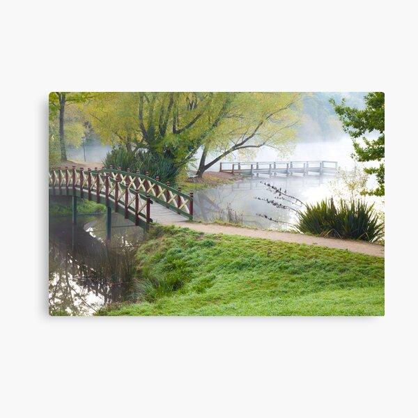 Bridge over Lake Daylesford Canvas Print