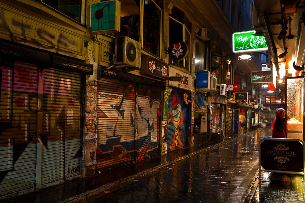 Center Place The Peoples Laneway Melbourne by Jim Key