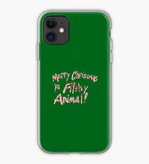 Merry Christmas ya Filthy Animal! iPhone Case