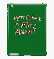 Merry Christmas ya Filthy Animal! iPad Case/Skin