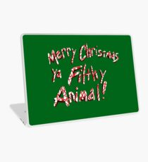 Merry Christmas ya Filthy Animal! Laptop Skin
