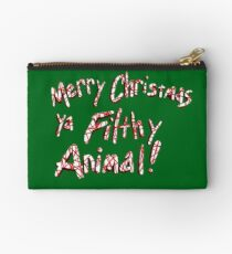 Merry Christmas ya Filthy Animal! Zipper Pouch