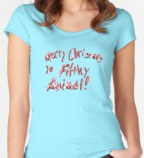 Merry Christmas ya Filthy Animal! Fitted Scoop T-Shirt