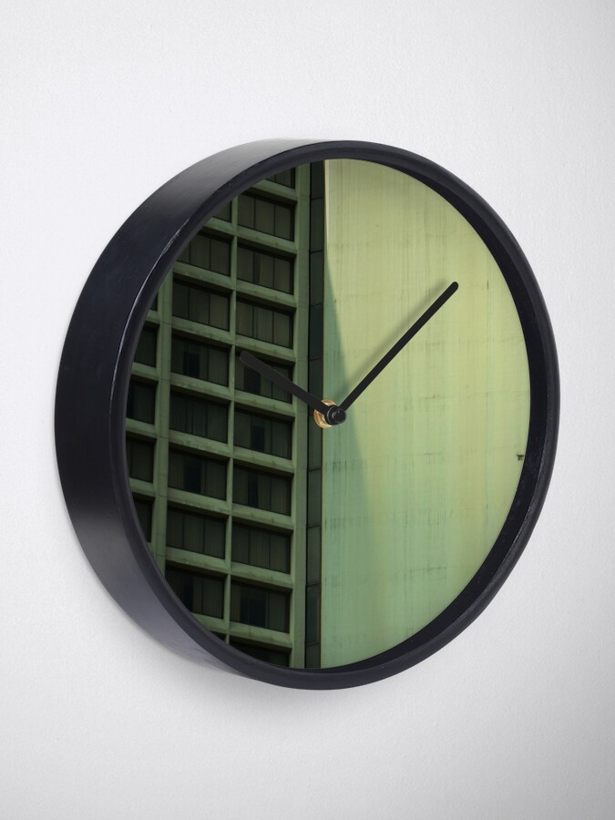 Alternate view of Grungy Hotel Exterior Clock