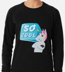 So Cool Unicorn Emoji JoyPixels You're so Cool Lightweight Sweatshirt