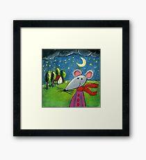 Night Mouse Framed Print