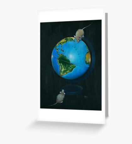 Around the World in Eighty Seconds Greeting Card