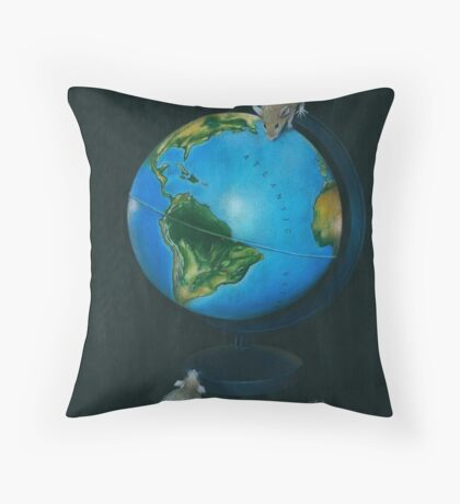 Around the World in Eighty Seconds Throw Pillow