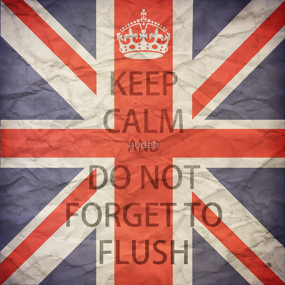 Keep Calm and Do Not Forget to Flush by audah
