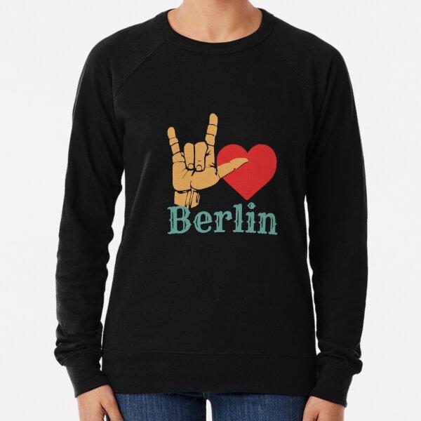 Ich liebe Berlin, Liebeszeichen-Geschenk Leichter Pullover