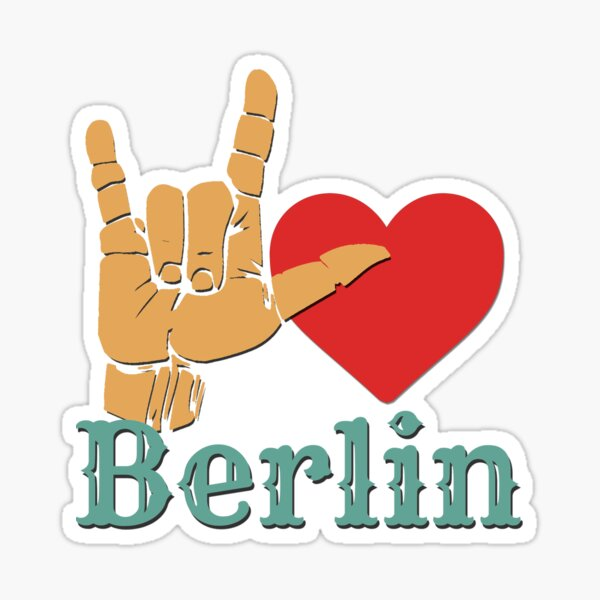 Ich liebe Berlin, Liebeszeichen-Geschenk Sticker