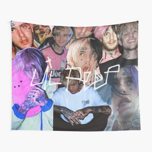 Lil Peep Life In Images Tapestry