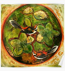 Green Collagraph 2 Poster