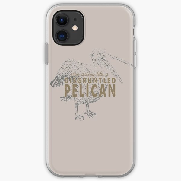 Disgruntled Pelican iPhone Soft Case