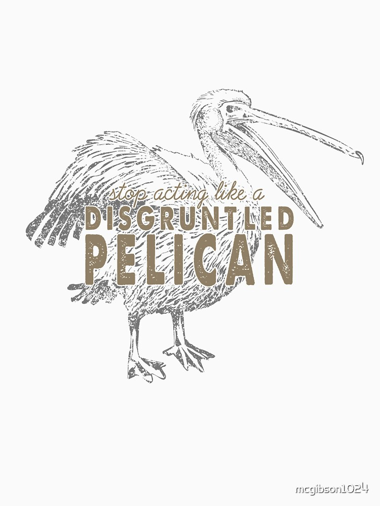 Disgruntled Pelican by mcgibson1024