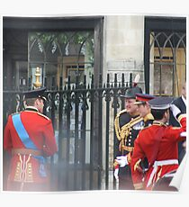 PRINCE WILLIAM AND PRINCE HARRY GOING IN TO THE ABBEY Poster