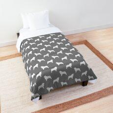 Australian Shepherd - White Dog Silhouette(s) Comforter