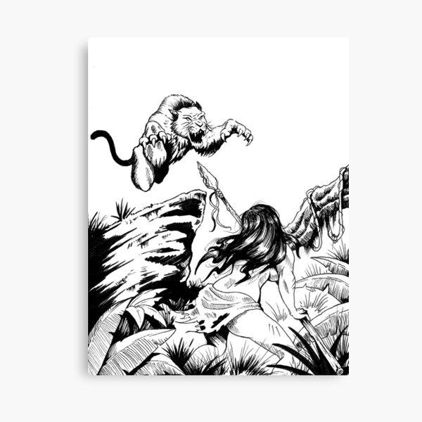 Amazon wild hunt!!! Canvas Print
