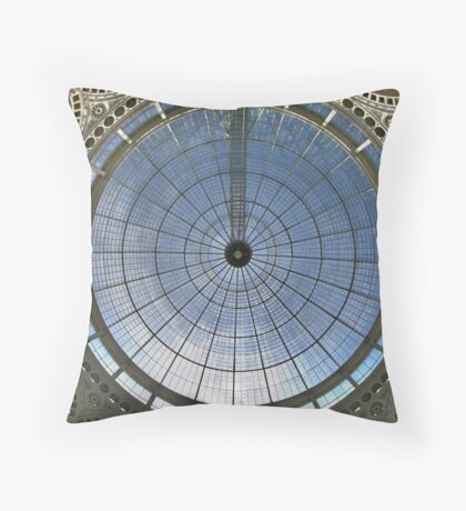 Covering The Sky: Conservatory roof at Syon House Throw Pillow