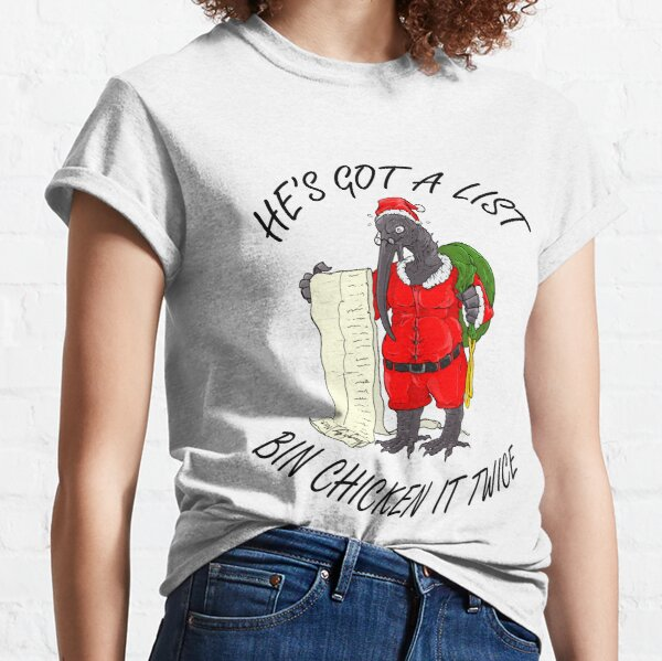 Santa Bin Chicken Classic T-Shirt