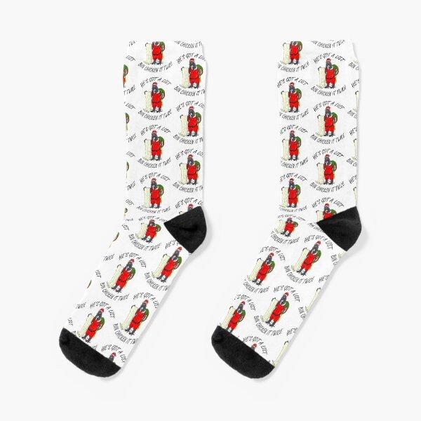 Santa Bin Chicken Socks